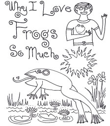 Link Button to Rick Clements book Why I love Frogs So Much
